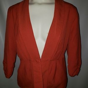 Womens Large Elle Brand Orange Business Suit Coat